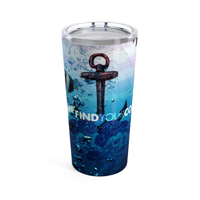 FYC 20 oz Stainless Steel Ocean Anchor/Skull Art Tumbler - Find Your Coast Supply Co.