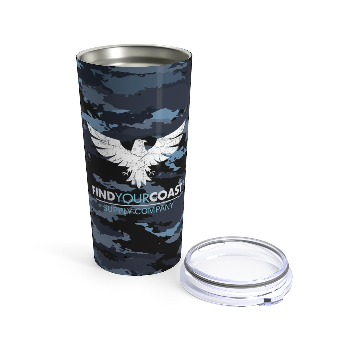 Find Your Coast 20 oz Stainless Steel Coast Camo Travel Tumbler - Find Your Coast Supply Co.