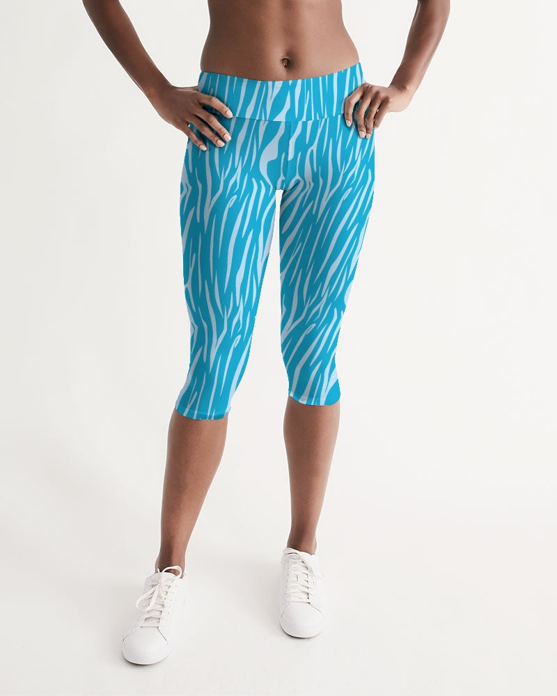 Women's Active Comfort Sea Bay Mid-Rise Capri Leggings - Find Your Coast Supply Co.