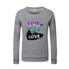 Women's Cotton Club Live the Life You Love Long Sleeve Sweatshirt - Find Your Coast Supply Co.