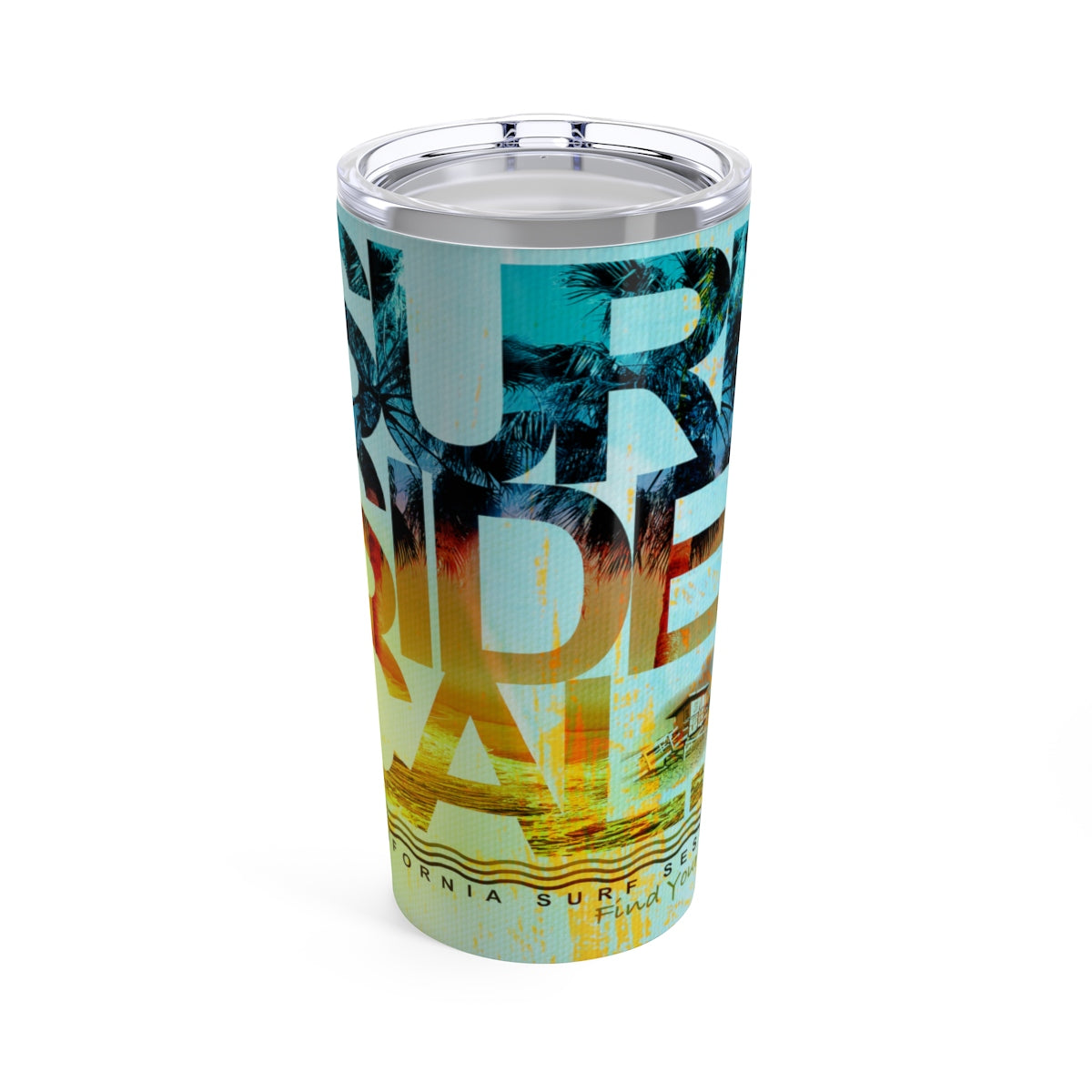 FYC Life Stainless Steel Surf Side 20 oz Tumbler - Find Your Coast Supply Co.