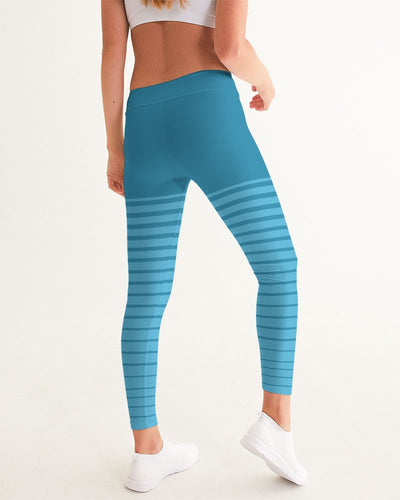 Women's Active Comfort Pacific Supply Stripe Sport Yoga Pant - Find Your Coast Supply Co.