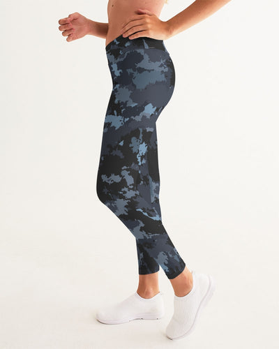 Women's Active Comfort Coast Camo Sport Yoga Pant - Find Your Coast Supply Co.