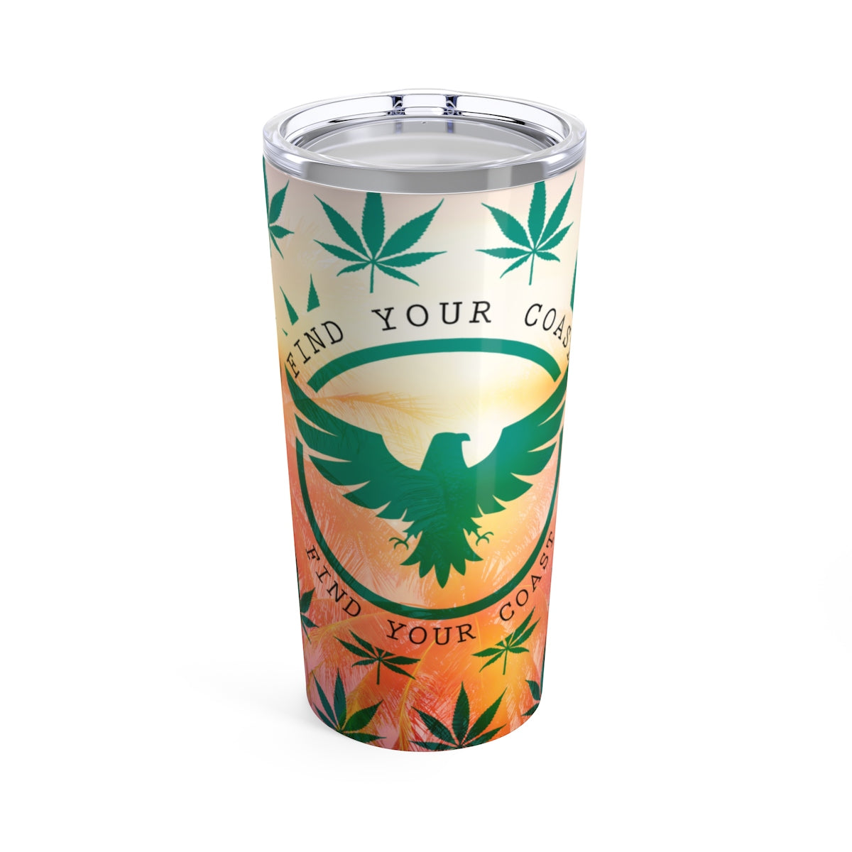FYC Stainless Steel Limited Edition Cannabis 20 oz Travel Tumbler - Find Your Coast Supply Co.