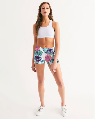 Women's Active Comfort Tropics Mid-Rise Yoga Shorts - Find Your Coast Supply Co.