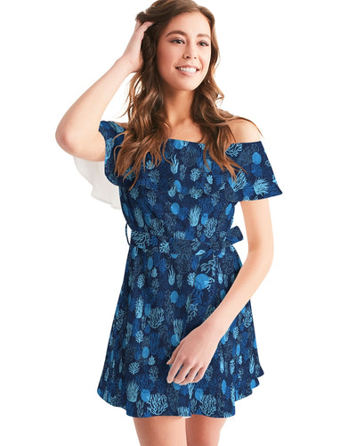 Women's Sea Reef Off-Shoulder Dress