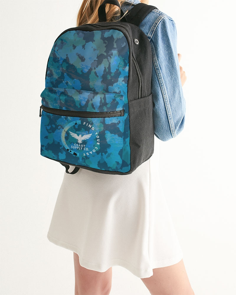 Find Your Coast Ocean Camo Small Canvas Backpack - Find Your Coast Supply Co.