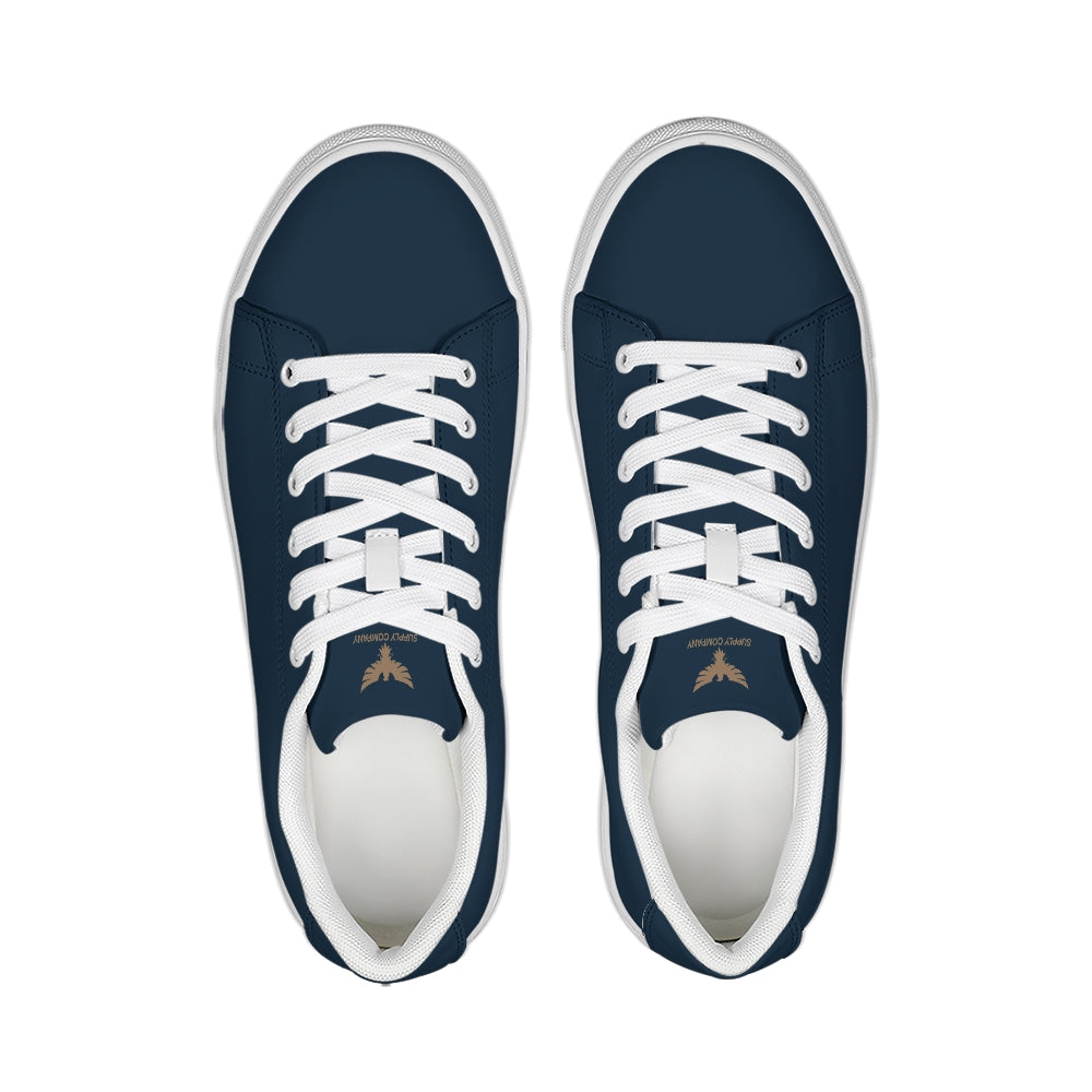 FYC Supply Co. Classic Navy and Tan Casual Lace Up Sneaker - Find Your Coast Supply Co.