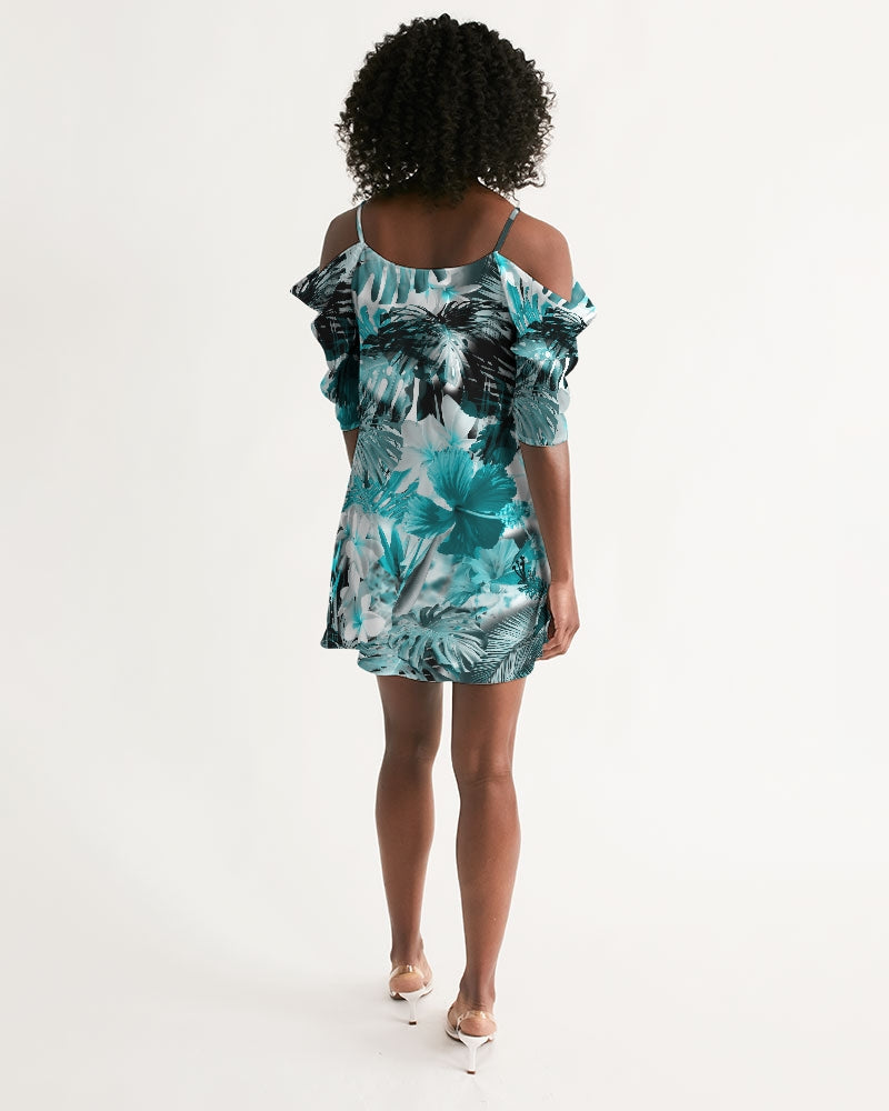 Women's My Sundays Casual Open Shoulder A-Line Dress - Find Your Coast Supply Co.