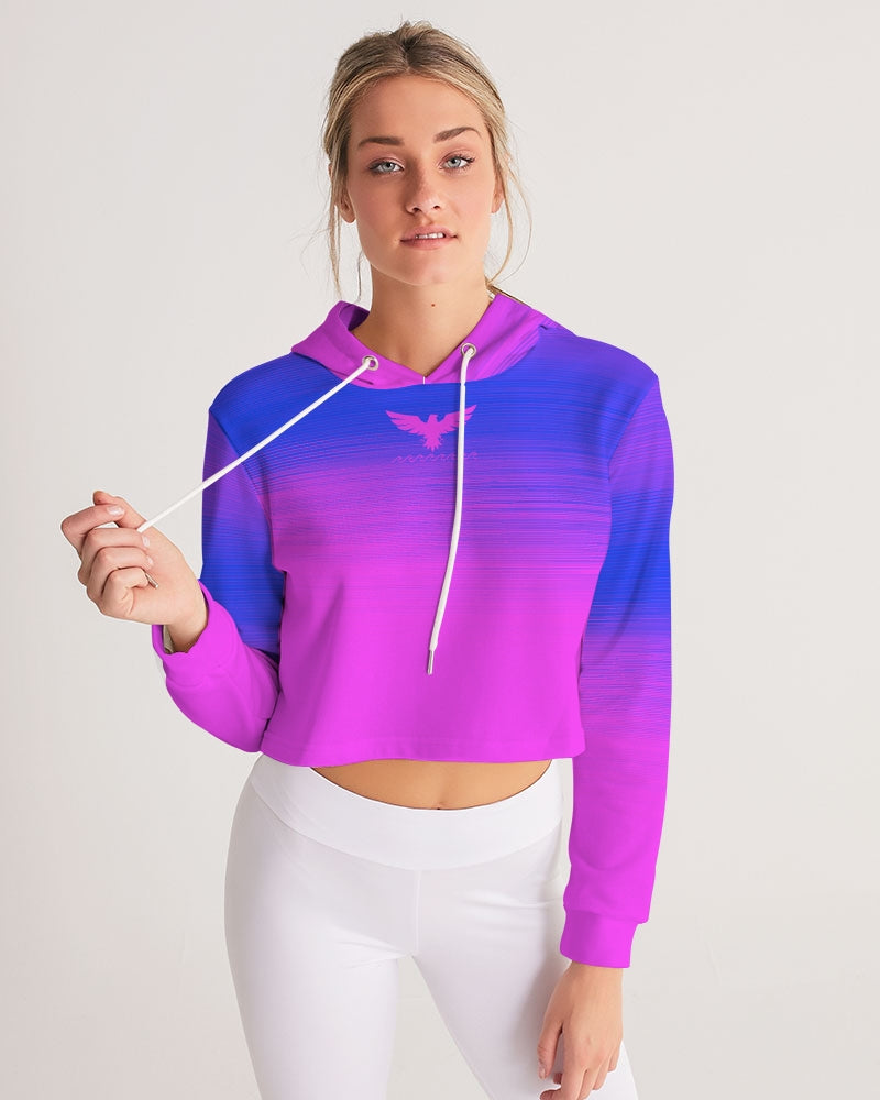 Women's Summer Eclipse Cropped Long Sleeve Hoodie - Find Your Coast Supply Co.