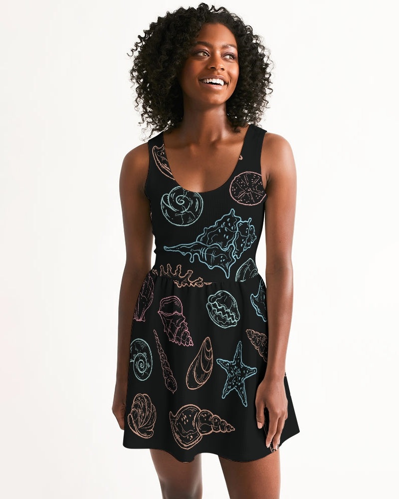 Women's Shell Dreamer Casual Scoop Neck Skater Dress - Find Your Coast Supply Co.