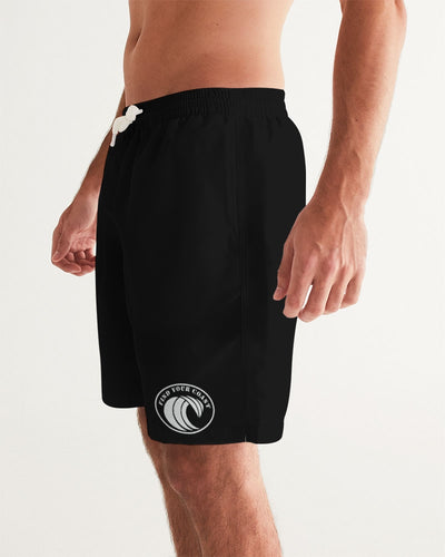 Men's FYC Original Wave Black Swim Shorts UPF 40 w/Lining - Find Your Coast Supply Co.
