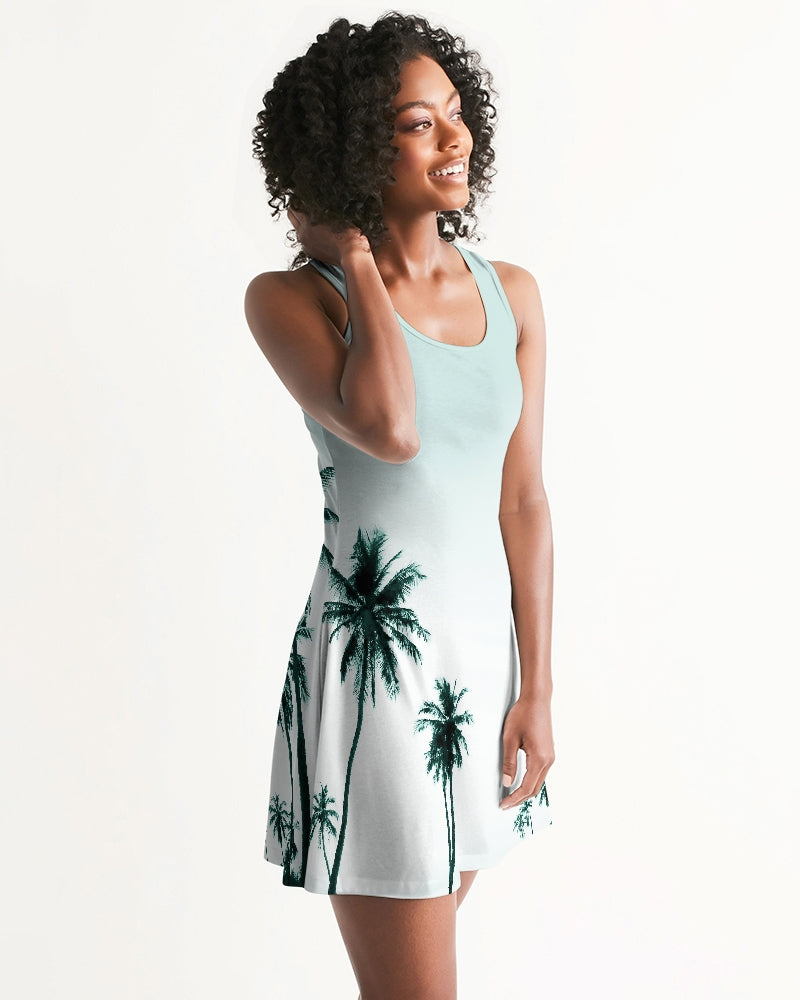 Women's Palm Life Casual and Fun Racerback Dress - Find Your Coast Supply Co.