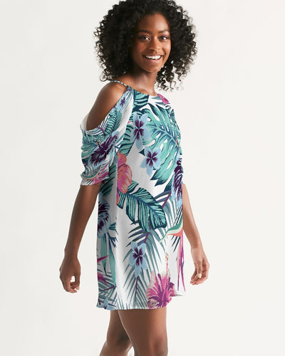 Women's Island Life Open Shoulder A-Line Dress