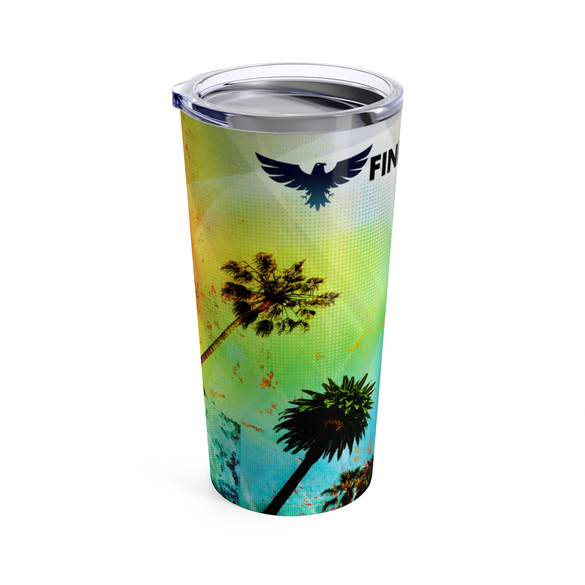 FYC 20 oz Stainless Steel Beach Art Tumbler - Find Your Coast Brand