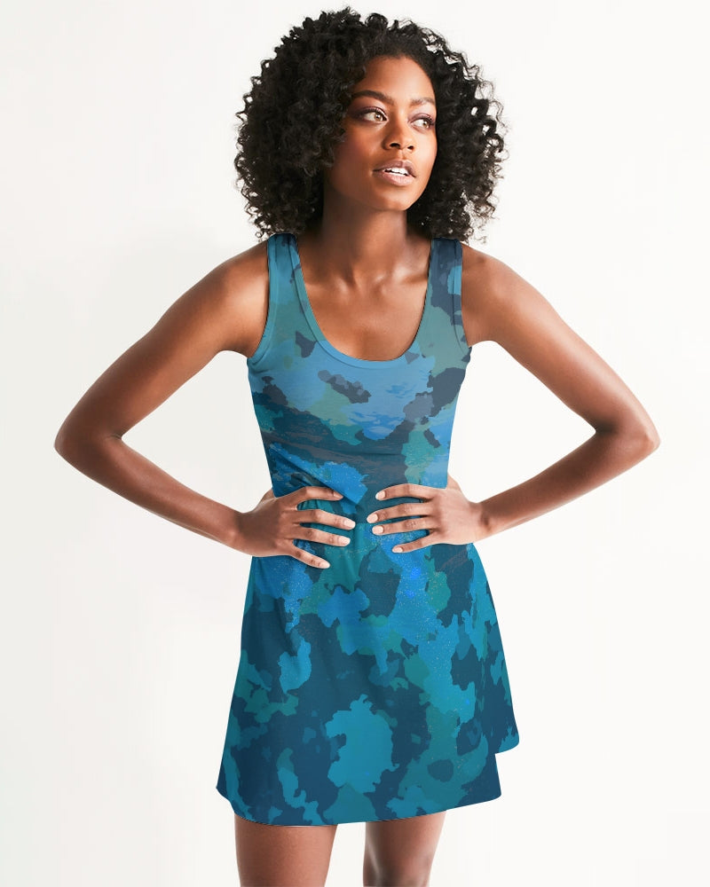 Women's Ocean Camo Casual Racerback Dress - Find Your Coast Supply Co.