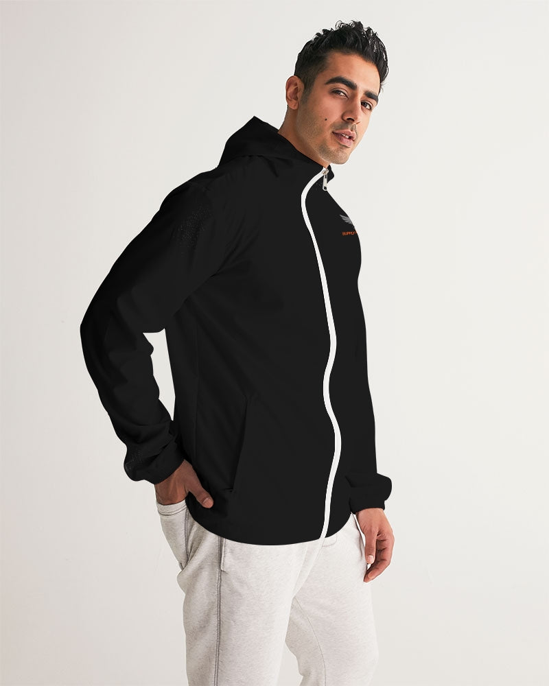 Men's FYC Supply Company Black Water Resistant Lightweight Windbreaker - Find Your Coast Supply Co.