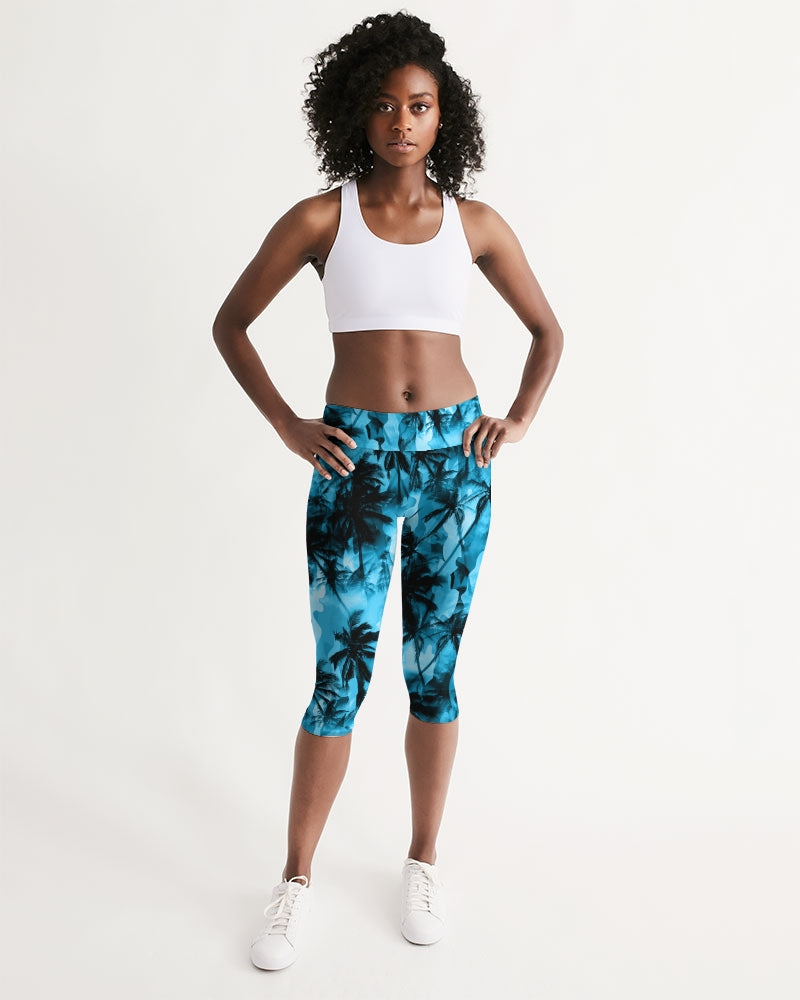 Women's Active Comfort Ancient City Mid-Rise Capri Leggings - Find Your Coast Supply Co.