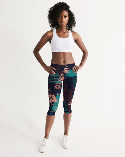 All Day Comfort Mid-Rise Victory Capri Leggings - Find Your Coast Supply Co.