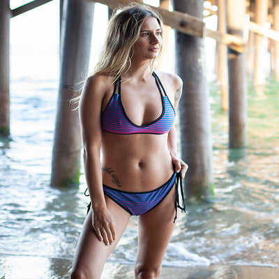 FYC Swim Reversible Stripe Bikini - Find Your Coast Brand