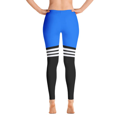 All Day Comfort Full Length Leggings Pacific Supply Stripe - Find Your Coast Supply Co.