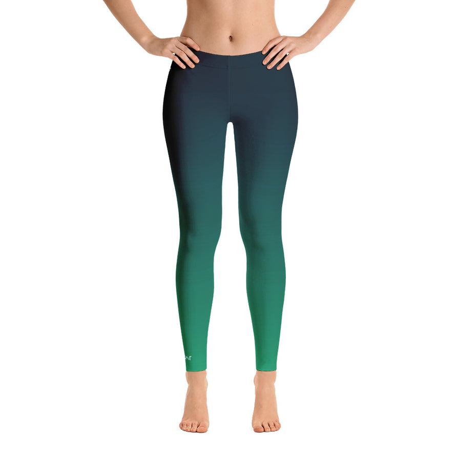 All Day Comfort Blue Coast Full Length Leggings - Find Your Coast Apparel