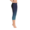 Women's All Day Comfort Blue Fade Capri Leggings - Find Your Coast Supply Co.