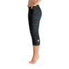 Women's All Day Comfort Black A L O H A Capri Leggings - Find Your Coast Supply Co.