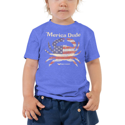 Find Your Coast Merica Dude Toddler Short Sleeve Tee (2T - 5T) - Find Your Coast Supply Co.