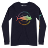 Men's Fishing Supply Co. Versatile Long Sleeve Rainbow Crewneck Tees - Find Your Coast Supply Co.