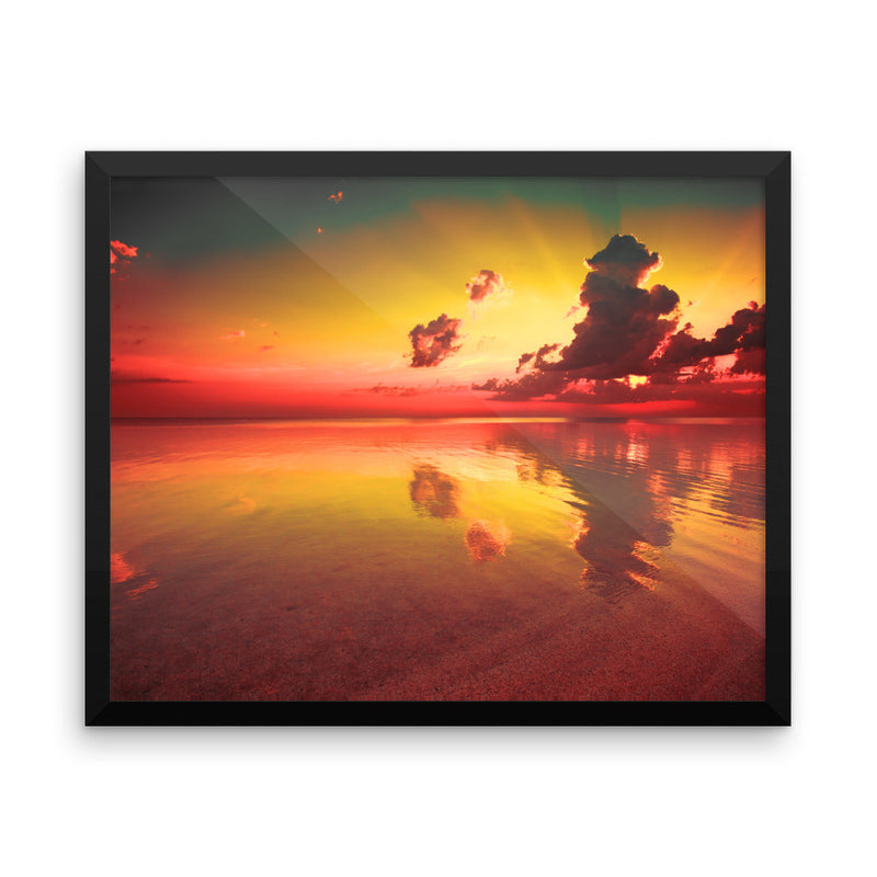 Purview - Framed photo paper poster - Find Your Coast Brand