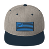 Find Your Coast Allegiance Heather Grey Adjustable Snapback Hat - Find Your Coast Supply Co.