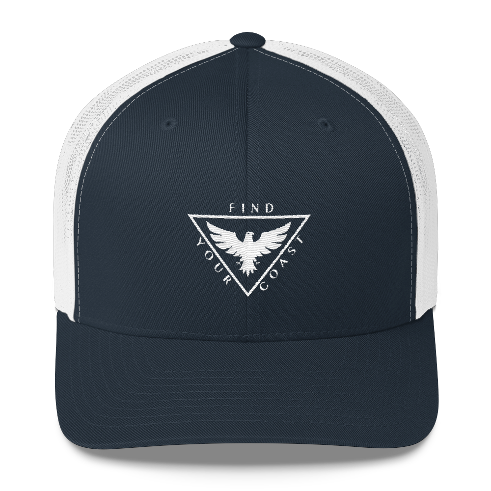 Find Your Coast Brand Mid-Profile Trucker Hat - Find Your Coast Supply Co.