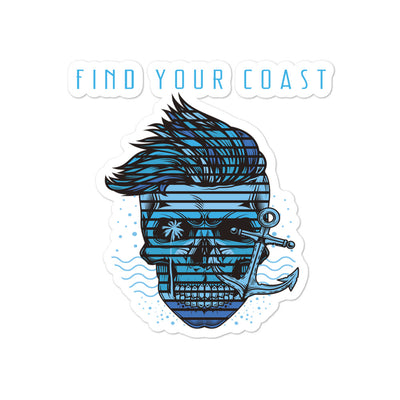 Find Your Coast Indoor/Outdoor Waterman Bubble-Free Stickers - Find Your Coast Supply Co.