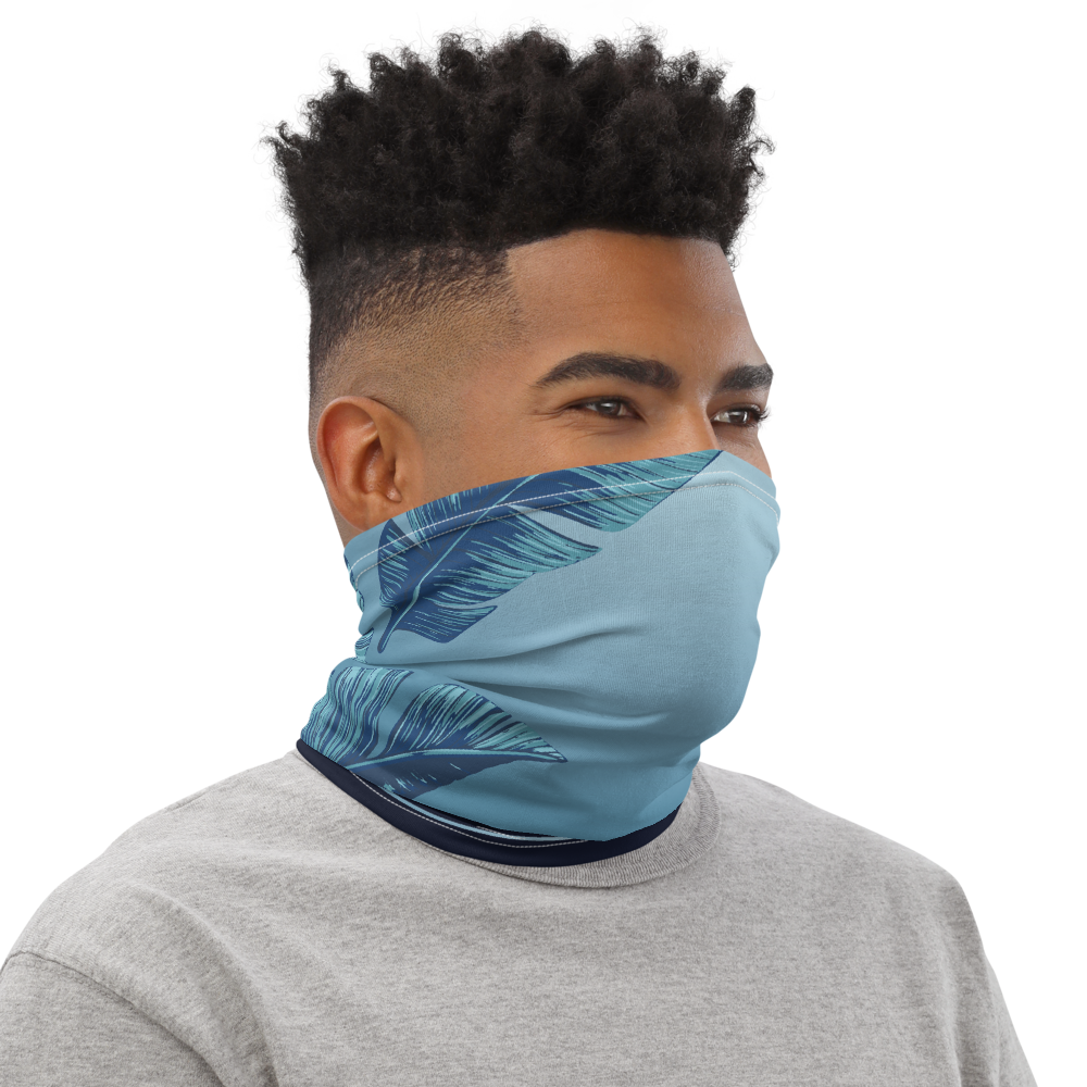 FYC Blue Striped Neck Gaiter