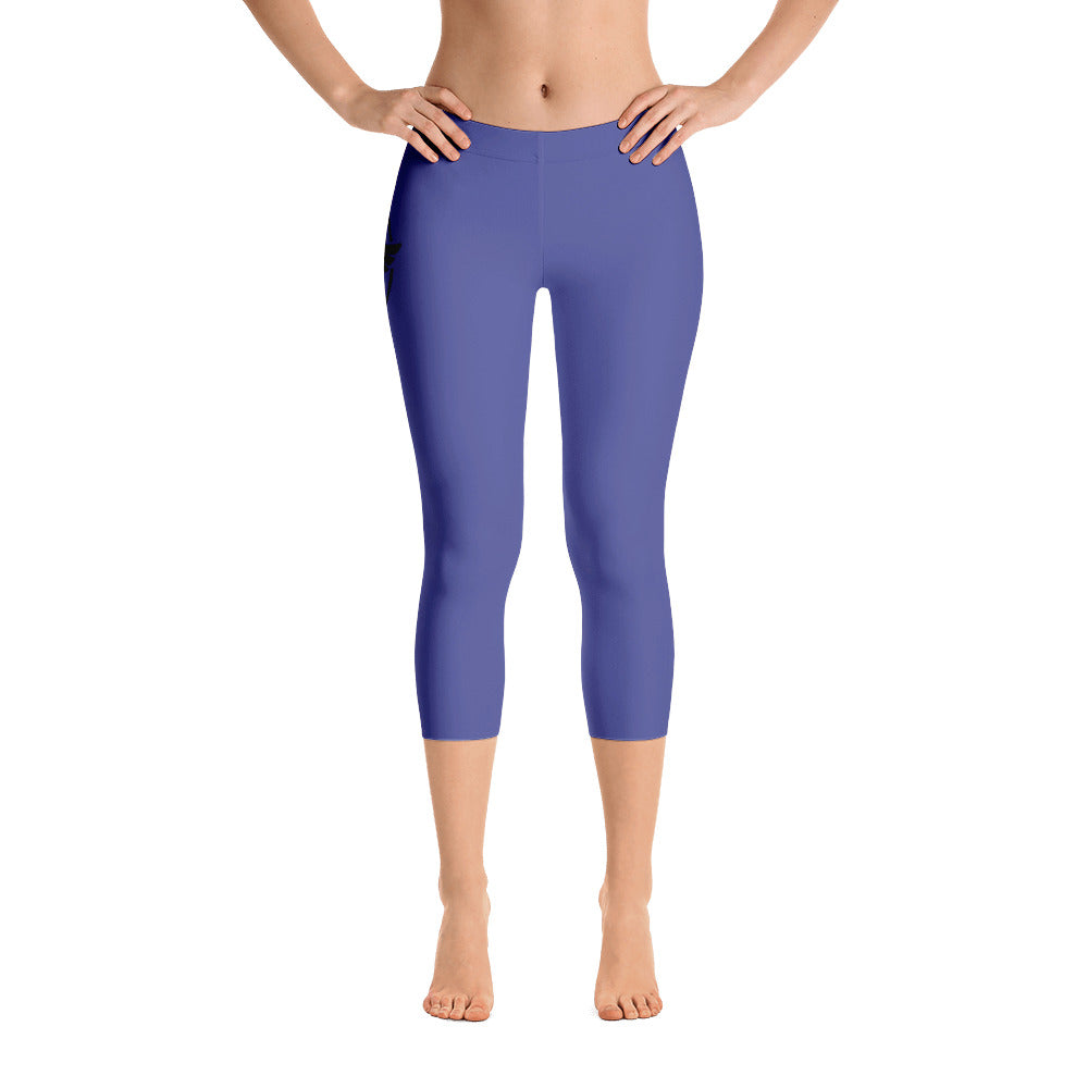 Women's All Day Comfort Capri Leggings Pacific Supply II Medium Blue - Find Your Coast Supply Co.