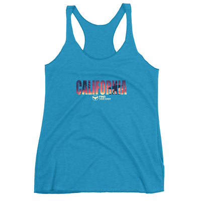 Women's California Surf Triblend Racerback Tank - Find Your Coast Apparel