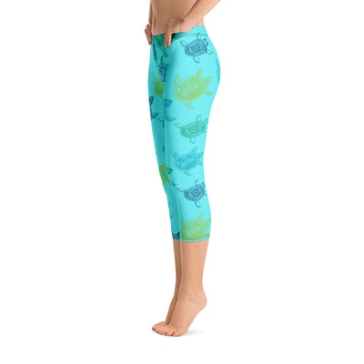 All Day Comfort Turtle Capri Leggings - Find Your Coast Supply Co.