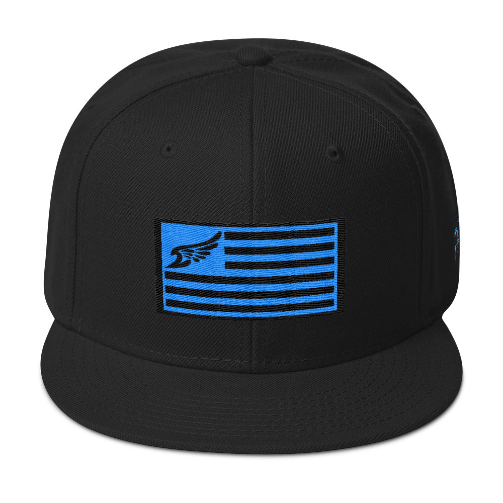 Find Your Coast Allegiance Black w/Teal Embroidery Snapback - Find Your Coast Brand