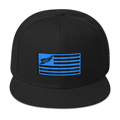 Find Your Coast Allegiance Black w/Teal Embroidery Snapback - Find Your Coast Supply Co.