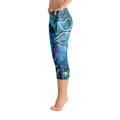 All Day Comfort O.U. R. Outdoors A L O H A Capri Leggings - Find Your Coast Supply Co.