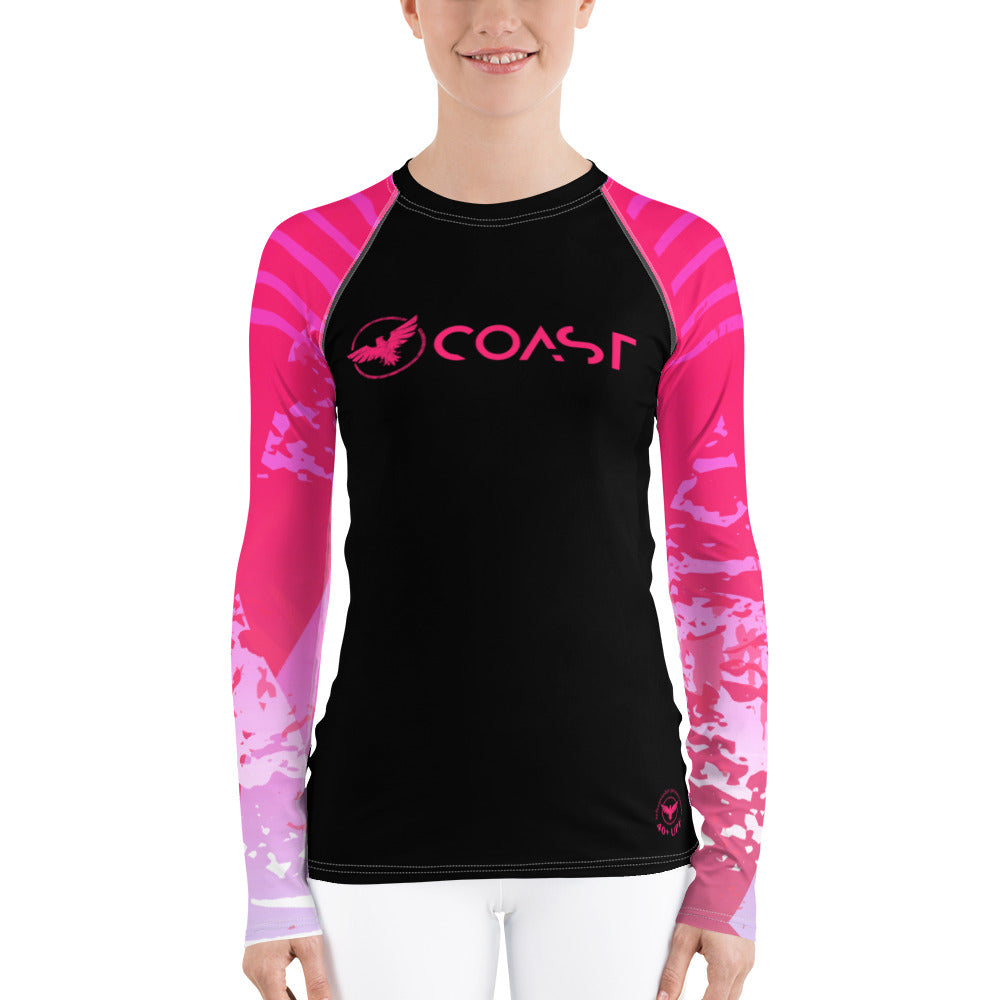 Women's Double Victory Sleeve Performance Rash Guard UPF 40+ - Find Your Coast Supply Co.