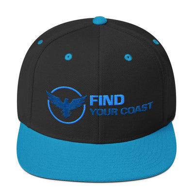 Premium Find Your Coast Snapback Adjustable Hats - Find Your Coast Brand