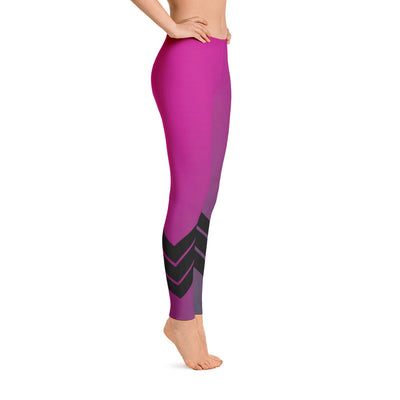 Women's All Day Comfort Pink Venture Pro Stripe Leggings - Find Your Coast Supply Co.
