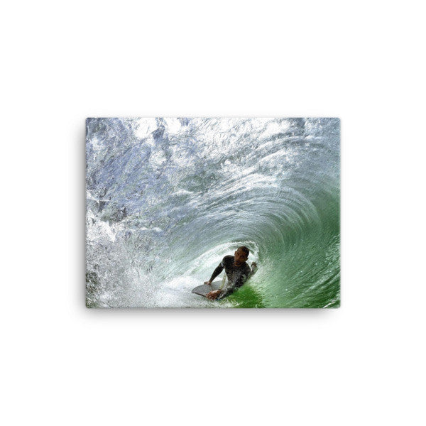Bodyboard rider on canvas - Find Your Coast Brand