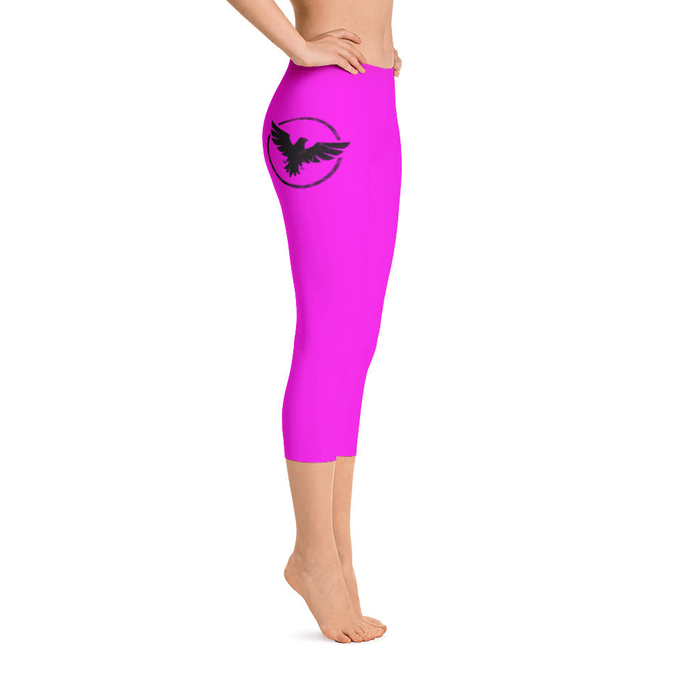 Women's All Day Comfort Capri Leggings Pacific Supply II Pink - Find Your Coast Supply Co.
