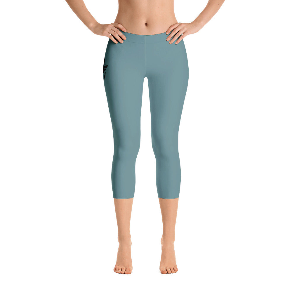 Women's All Day Comfort Capri Leggings Pacific Supply II Slate - Find Your Coast Supply Co.