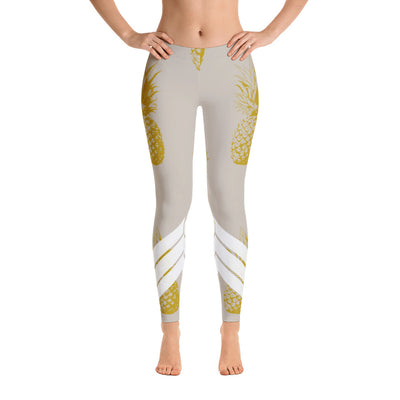 All Day Comfort Venture Pro Pineapple Leggings - Find Your Coast Apparel