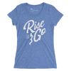 Women's Find Your Coast Rise and Go Triblend Short Sleeve Tee - Find Your Coast Supply Co.