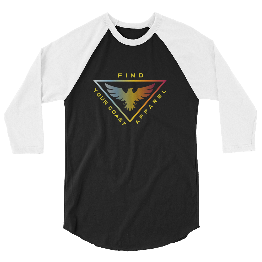 fc41451b4ad2a Find Your Coast Apparel | Men's 3/4 Sleeve Triad Raglan Shirt